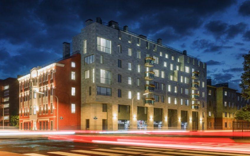 В Петроградском районе сдан жилой клубный дом «Атлант» в стиле модерн с пешеходной дворовой территорией.